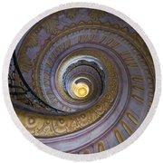 Spiral Staircase Melk Abbey IIi Round Beach Towel