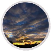 Round Beach Towel featuring the photograph Spiral Sunset by Mark Blauhoefer