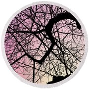 Spiral Tree Round Beach Towel