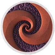 Spiralicious Round Beach Towel by Lyle Hatch