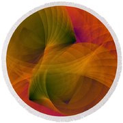 Spiraling Insight With Complicated Continuation Round Beach Towel