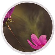 Spirit Among The Flowers Round Beach Towel