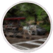 Spirit Carriage 1 Round Beach Towel