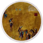Spirit Horses Round Beach Towel