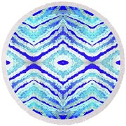 Spirit Journey To The Other Side  Round Beach Towel by Rachel Hannah