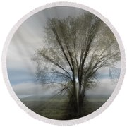 Round Beach Towel featuring the photograph Spirit Of Nature by Sandra Bronstein