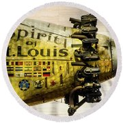 Spirit Of St Louis Round Beach Towel