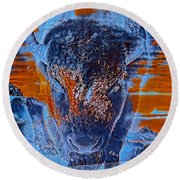 Spirit Of The Buffalo Round Beach Towel