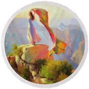 Spirit Of The Canyon Round Beach Towel