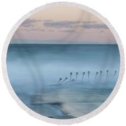 Spirit Of The Ocean Round Beach Towel by Az Jackson