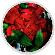 Spirit Of The Rose Round Beach Towel by Gina O'Brien