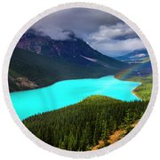 Round Beach Towel featuring the photograph  Spirit Of The Wolf by John Poon