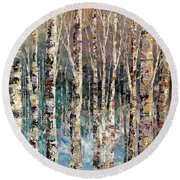 Spirit Of Winter Round Beach Towel