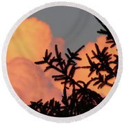 Spirit Pines Round Beach Towel