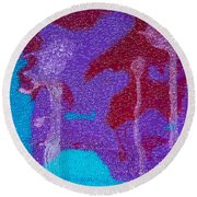 Round Beach Towel featuring the painting Spirit Seeker by Carolyn Repka