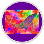 Spirit Whale Round Beach Towel