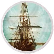 Round Beach Towel featuring the photograph Spirits Of A Ship by John Rivera