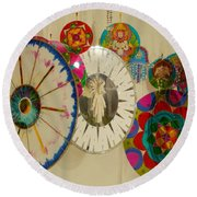 Round Beach Towel featuring the photograph Spiritual Decoration by Beto Machado
