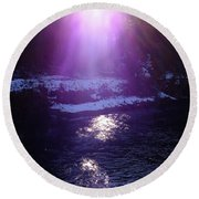 Spiritual Light Round Beach Towel