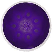 Spiro Dark Round Beach Towel