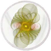 Spiro-girations Round Beach Towel by Richard Ortolano
