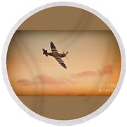 Spitfire Sunset Round Beach Towel
