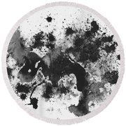 Round Beach Towel featuring the painting Splartch by Marc Philippe Joly