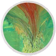 Splash Round Beach Towel by Karen Nicholson