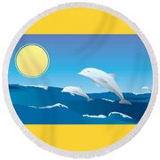 Splash Round Beach Towel by Now