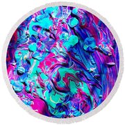 Splash Of Color Round Beach Towel