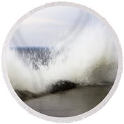 Round Beach Towel featuring the photograph Splash by Tara Lynn