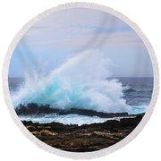 Splashing Waves Of Tsitsikamma Round Beach Towel by Jeff at JSJ Photography