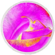 Round Beach Towel featuring the mixed media Splendid Rose Abstract by Will Borden
