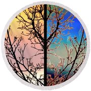 Round Beach Towel featuring the digital art Splendid Spring Fusion by Will Borden