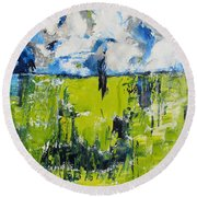 Splendor Of Nature Round Beach Towel by Lisa Boyd