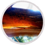 Round Beach Towel featuring the photograph Splintered After The Storm by Justin  Moore