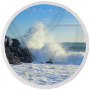 Splish Splash Round Beach Towel
