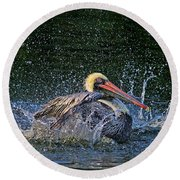 Round Beach Towel featuring the photograph Splish Splash by HH Photography of Florida
