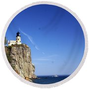 Split Rock 1 Round Beach Towel