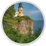 Split Rock Lighthouse Round Beach Towel
