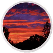 Sploingle Sunset Round Beach Towel by Mark Blauhoefer