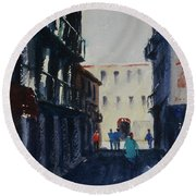 Spofford Street4 Round Beach Towel by Tom Simmons