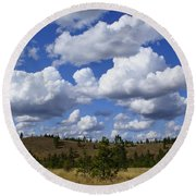 Spokane Cloudscape Round Beach Towel