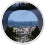 Spokane Near Perfect Nature Round Beach Towel