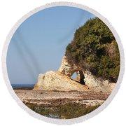 Spooner's Cove Reflection Round Beach Towel