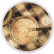 Spoonful Of Sugar Round Beach Towel