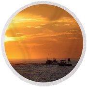Sportfishermen Head Offshore Round Beach Towel