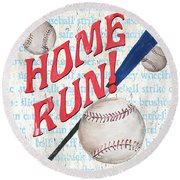 Sports Fan Baseball Round Beach Towel