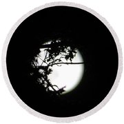 Spotlight Moon Round Beach Towel