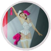 Spotlight On Gypsy -- #5 In Famous Flirts Series Round Beach Towel